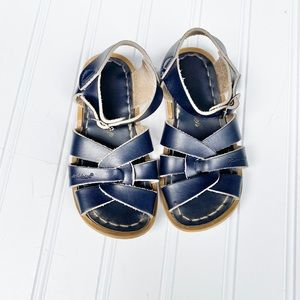Navy blue saltwater sandals